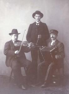 O Eriksson, O Danielsson och ND. Stenmark.  i Krånge