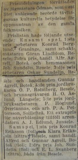 Sollefteå 1919 resultat