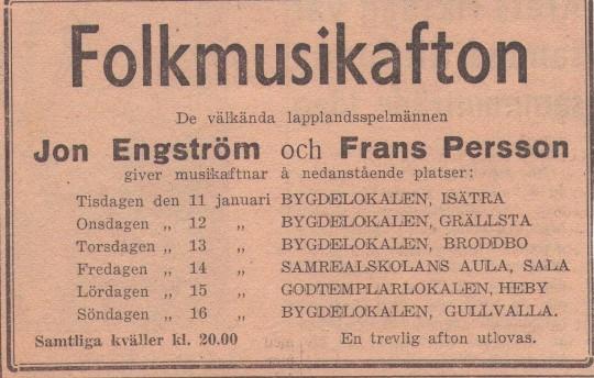 Folkmusikafton