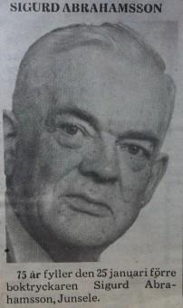 Sigurd Abrahamsson