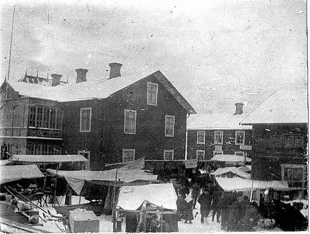 Marknad i Junsele 1902.