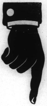 tecknad hand