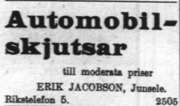 9 juli jacobsson första bil